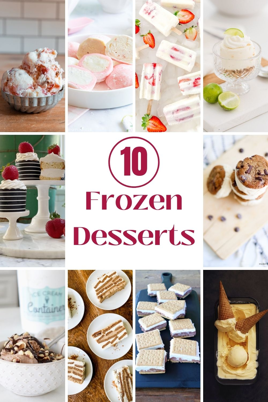 10 frozen desserts to make this summer