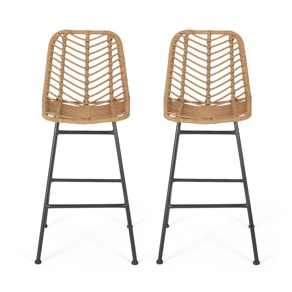 Jessie counter stools at walmart are very affordable and a great way to bring the rattan home into your home without a big expense.