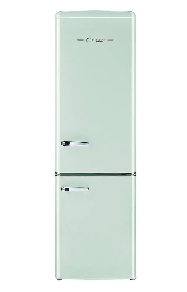 The cutest retro mint fridge.