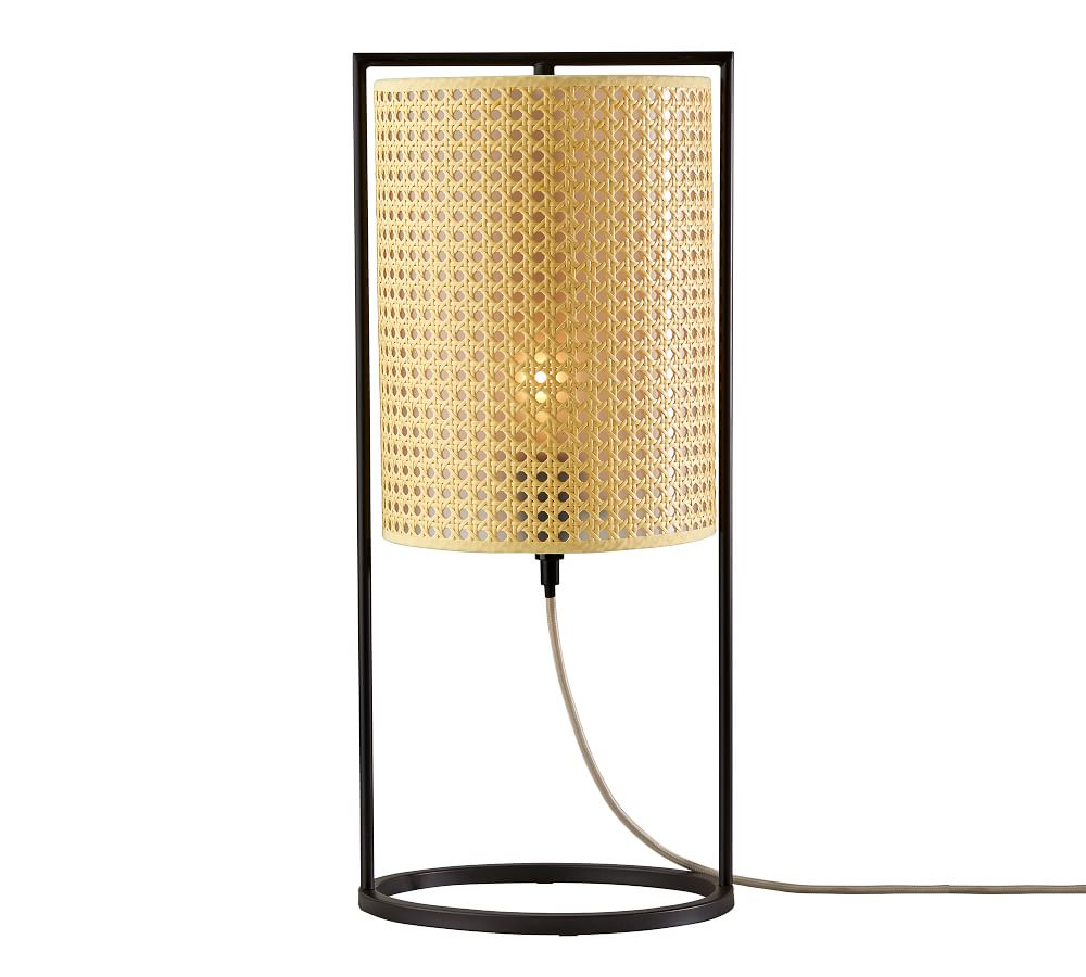 Cane Nestor Black and Cane Table Lamp at Pottery Barn