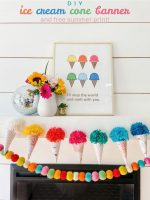 Ice Cream Cone Garland and Free Summer Printable