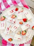 strawberry creamiscle popsicles