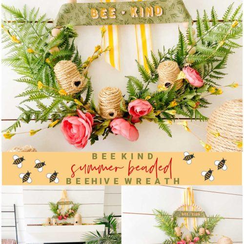 Summer Beaded Beehive Wreath