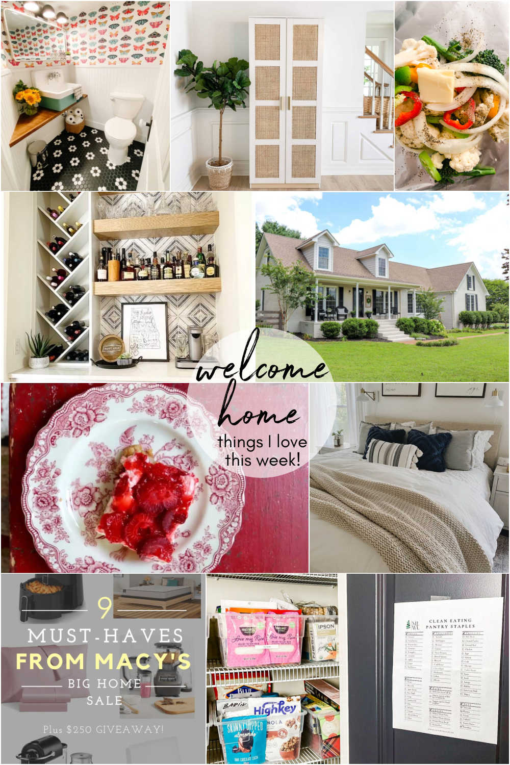 Welcome Home Saturday with A Life Well Loved. DIY projects, bathroom remodel update and things I love this week for Summer.