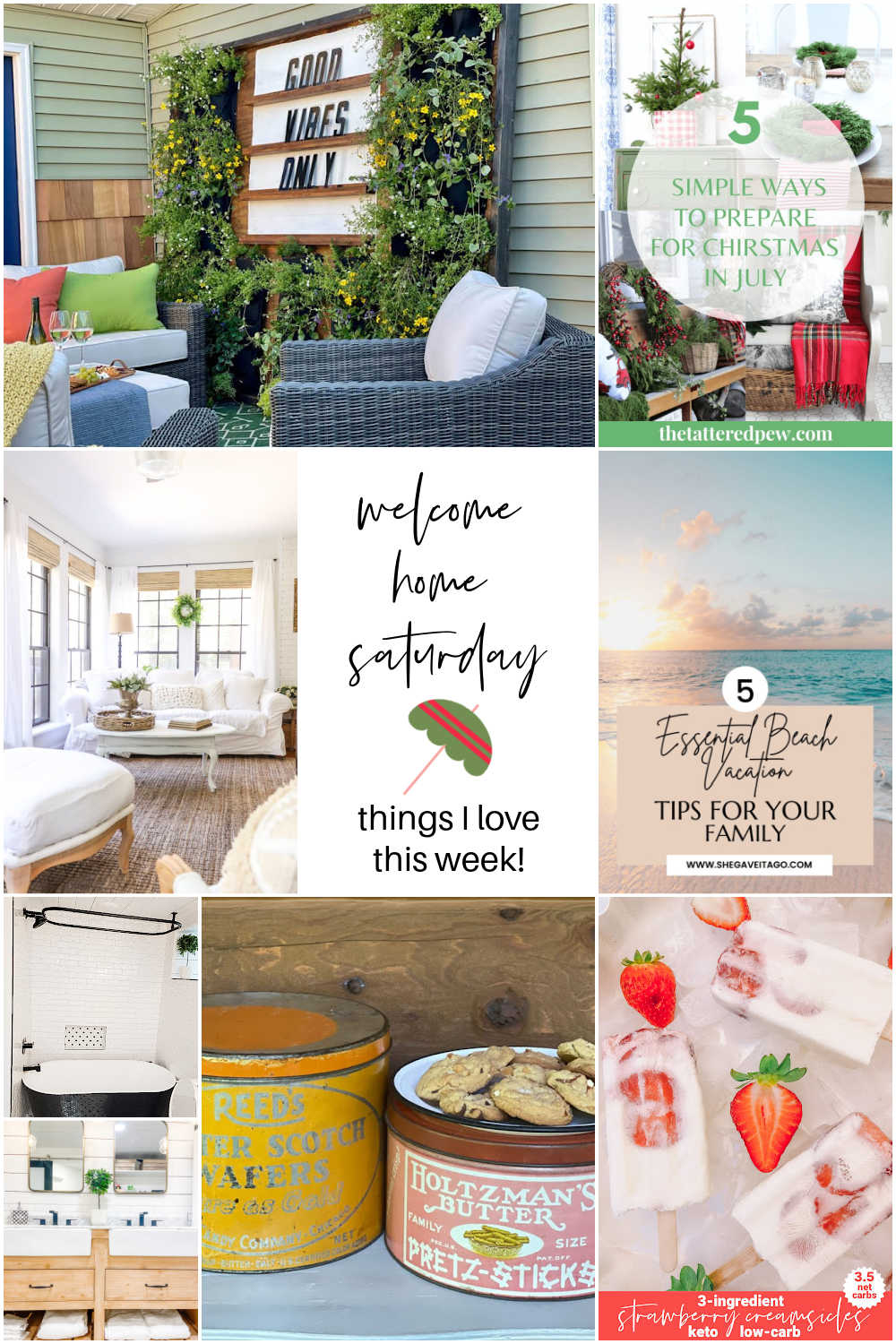 Welcome Home Saturday with Life Unfolding. DIY projects, bathroom remodel update and things I love this week for Summer.