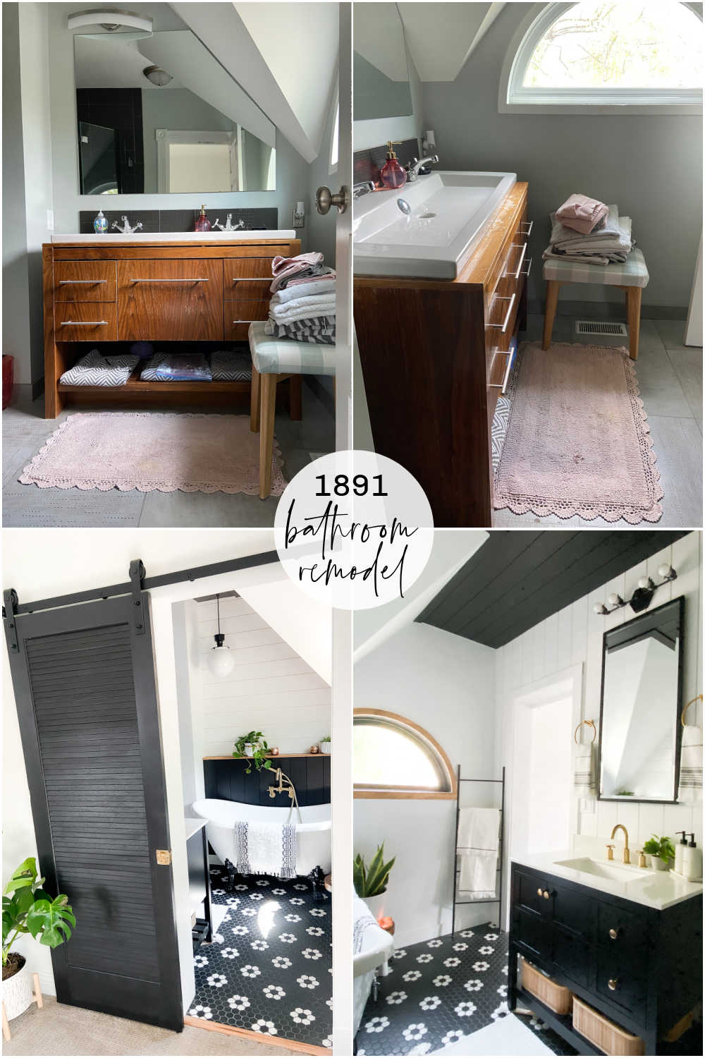 A Small Bathroom that is BIG on Organization! Ways to make a small bathroom maximize storage while maintaining a beautiful appearance!