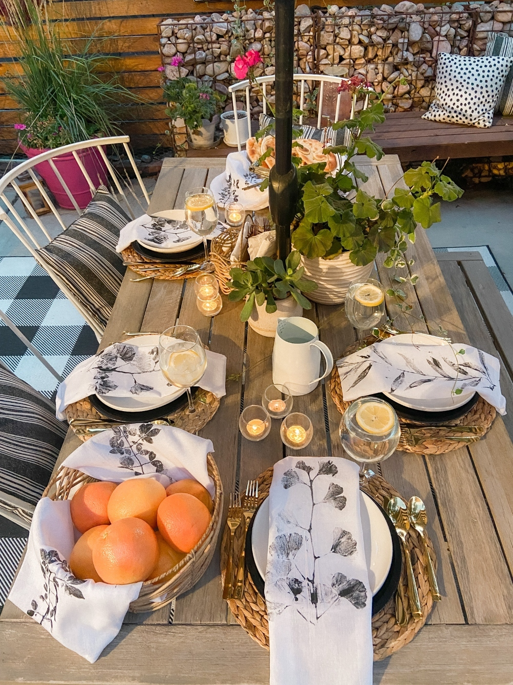 Dollar Store Stamped Leaf Napkins. Dress up your Autumn table by creating DIY stamped napkins with leaves from your neighborhood or a special place!