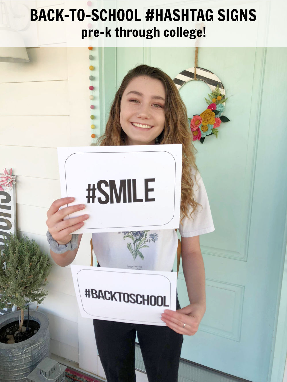 Instagram-Ready #Hashtag Back to School Photo Prop Printables. Capture those first day of school memories with these fun hashtag free printable signs!