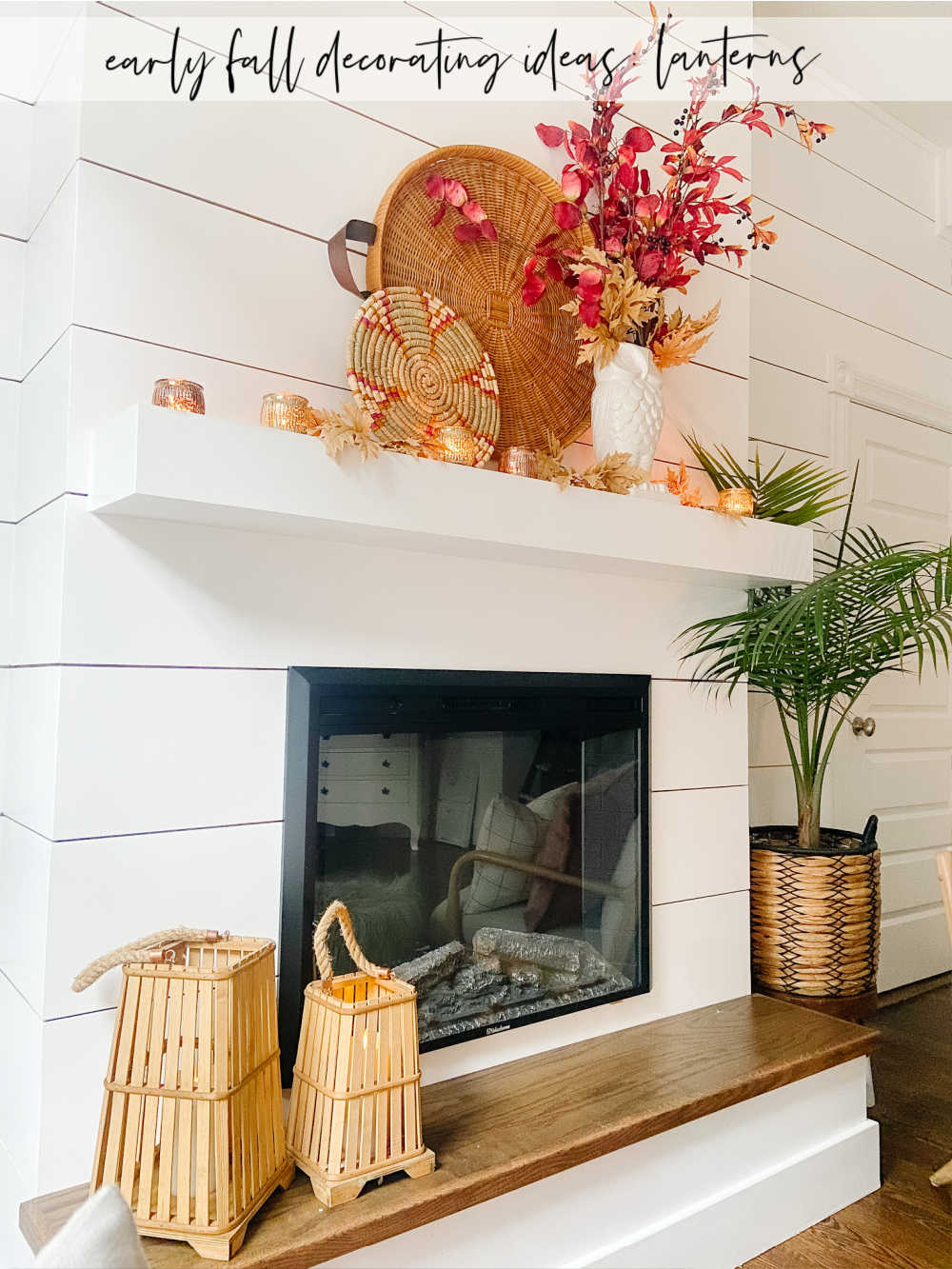 Easy Early Fall Decorating Ideas. Wondering how to transition from summer to early Fall? Here are some easy ideas with no pumpkins!