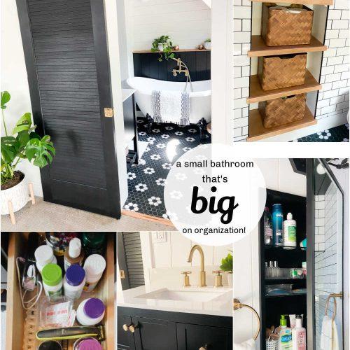 Small Bathroom BIG organization