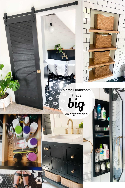 small bathroom organizing storage ieas