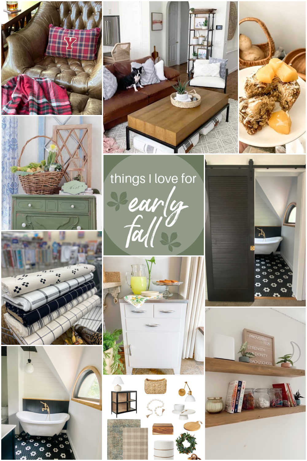 Welcome Home Saturday - Things I Love For Early Fall! DIY projects, bathroom remodel update and things I love this week!