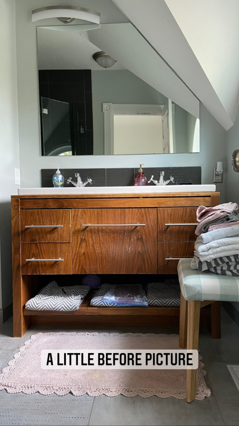 Welcome Home Saturday with At Home in the Wildwood. DIY projects, bathroom remodel update and things I love this week!