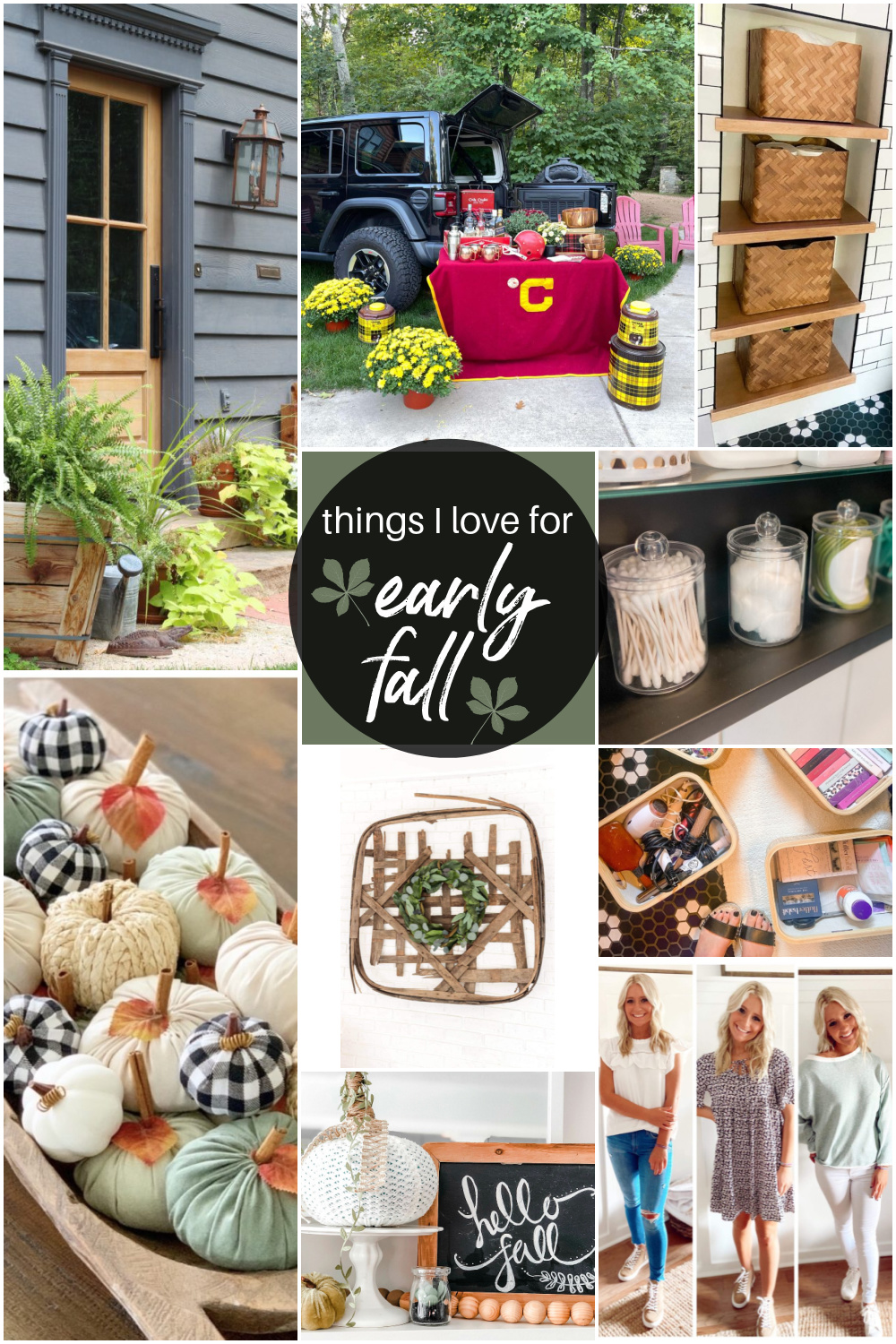 Welcome Home Saturday - Things I Love This Week! Bathroom Remodel, Organizing Ideas and Fall Goodness!