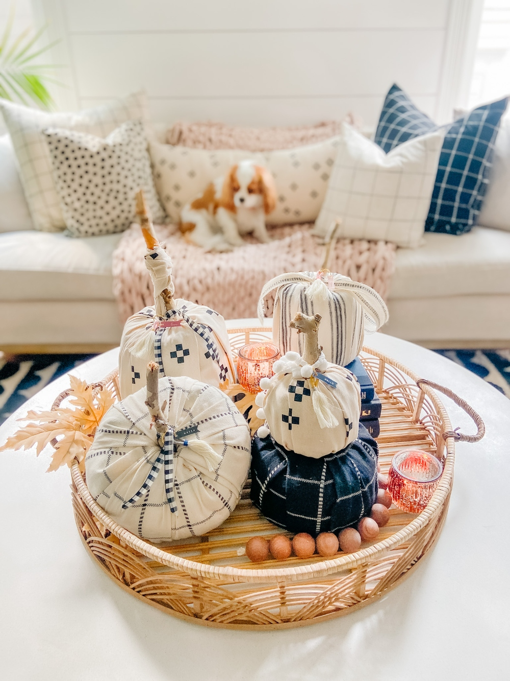 Elevated Fabric Toilet Paper Pumpkins. Transform toilet paper into the cutest pumpkins for fall in FOUR different shapes and customize them for YOUR decor!