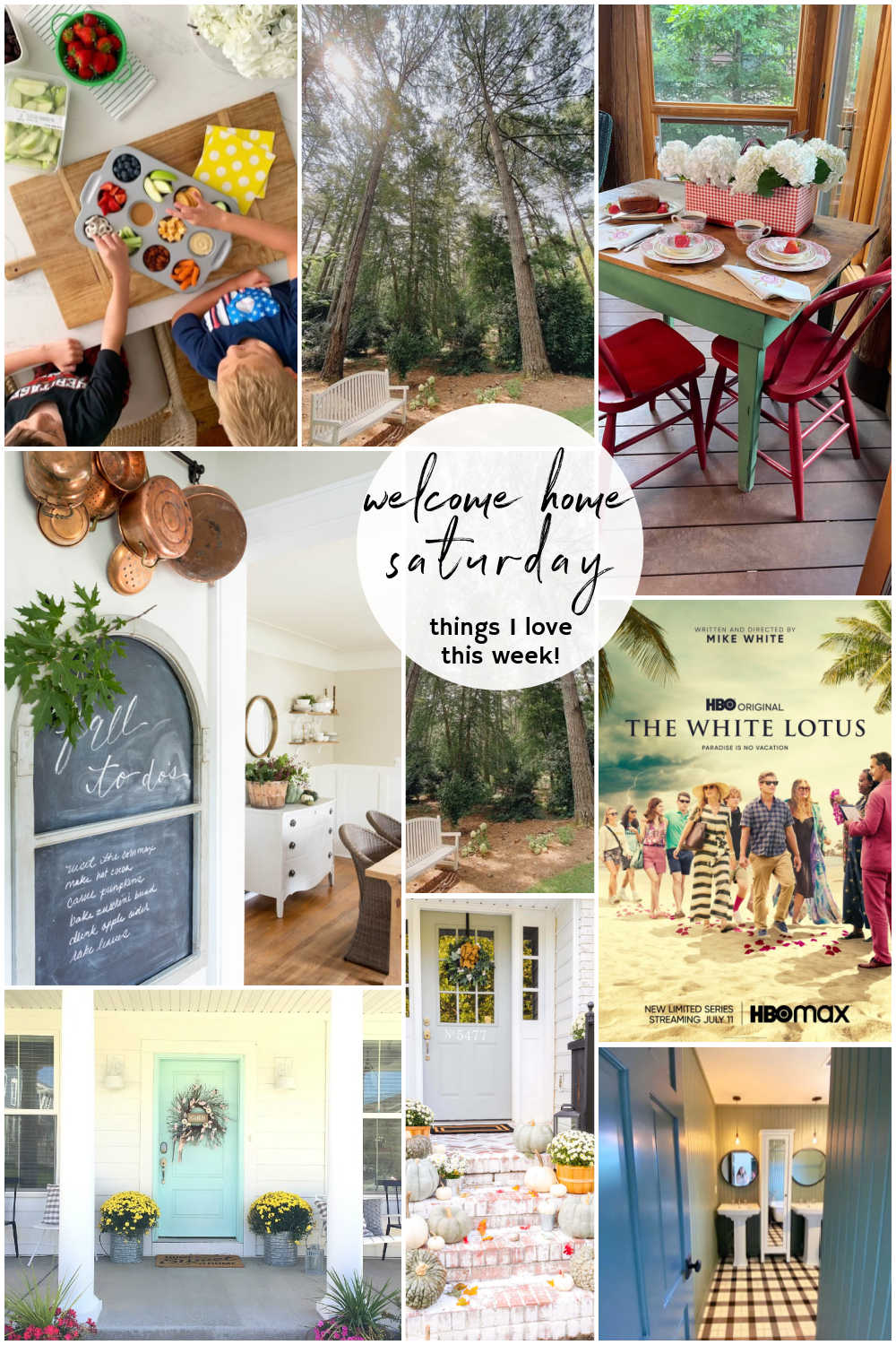 Welcome Home Saturday -- Things I Love This Week! DIY projects, bathroom remodel update and things I love this week for Summer.