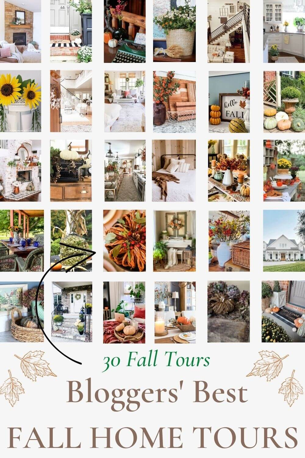 Bloggers Best Home Tours for Fall!