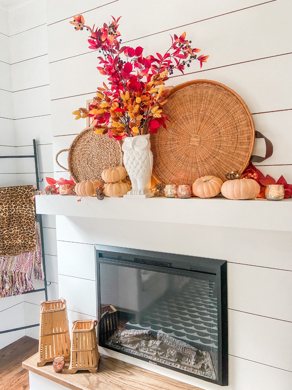 Boho Cottage Fall Mantel