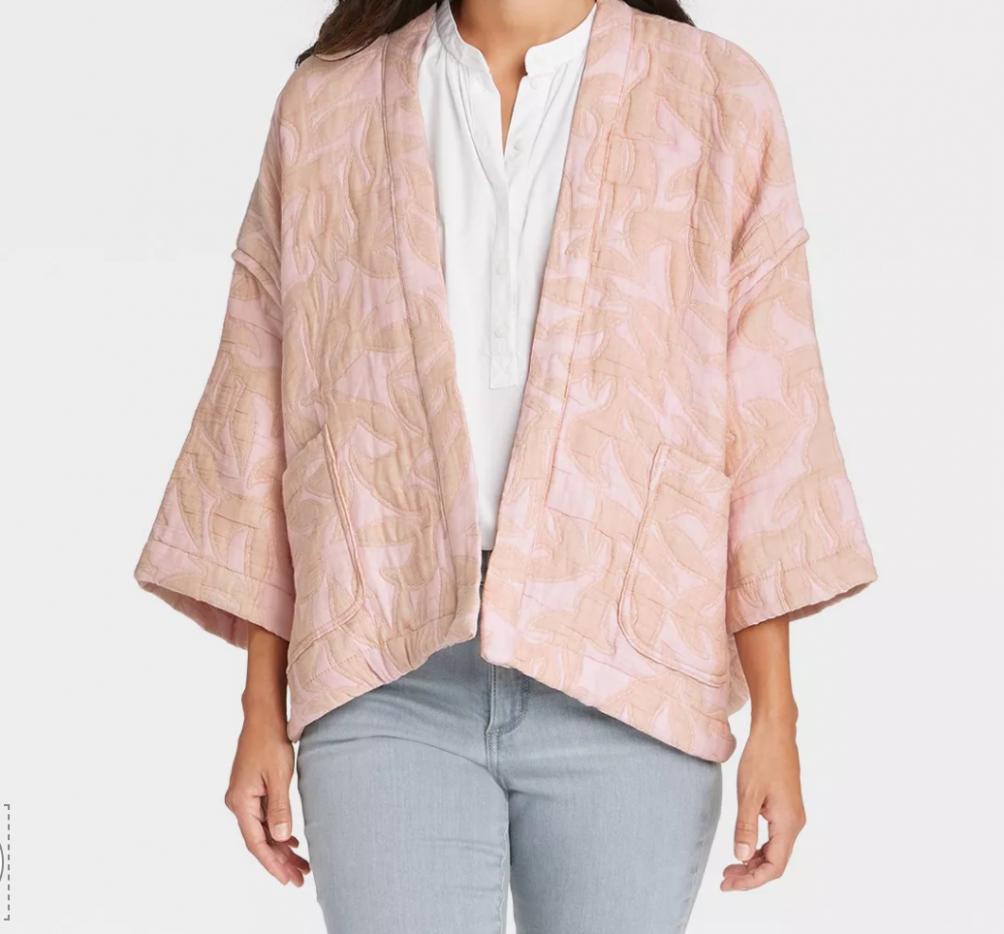 blush kimono jacket for fall