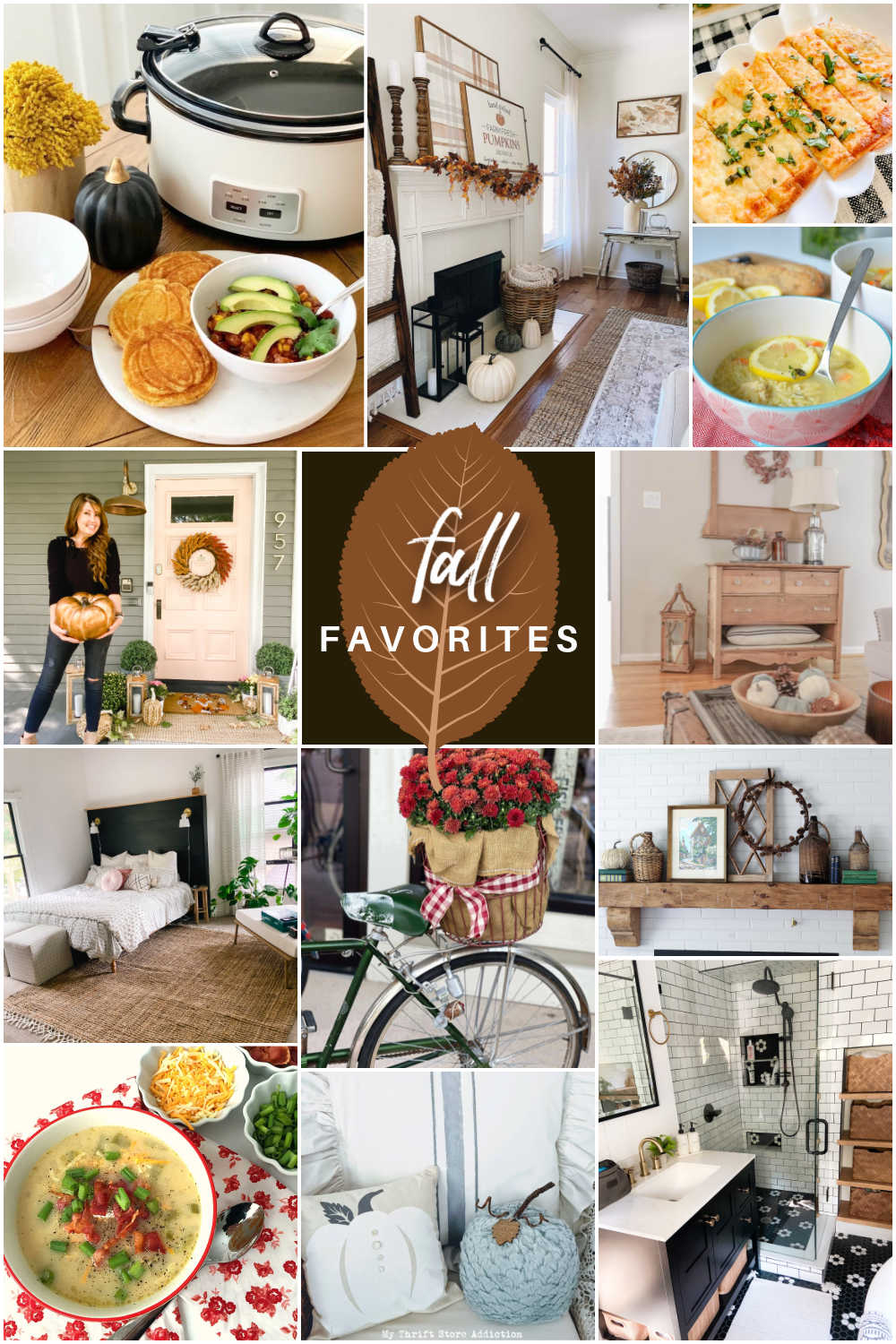 Welcome Home Saturday - Fall Favorites! Fall decorating, mantel ideas, recipes and fall favorite things!