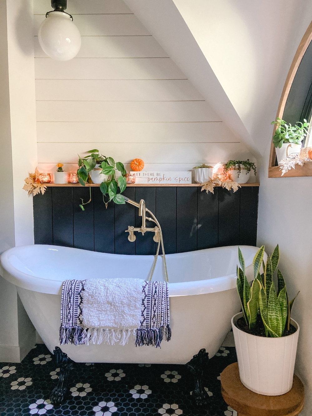 Our New Bedroom and Bathroom Decorated for Fall! Step inside our cozy 1891 bedroom and bathroom remodel with warm rustic touches.