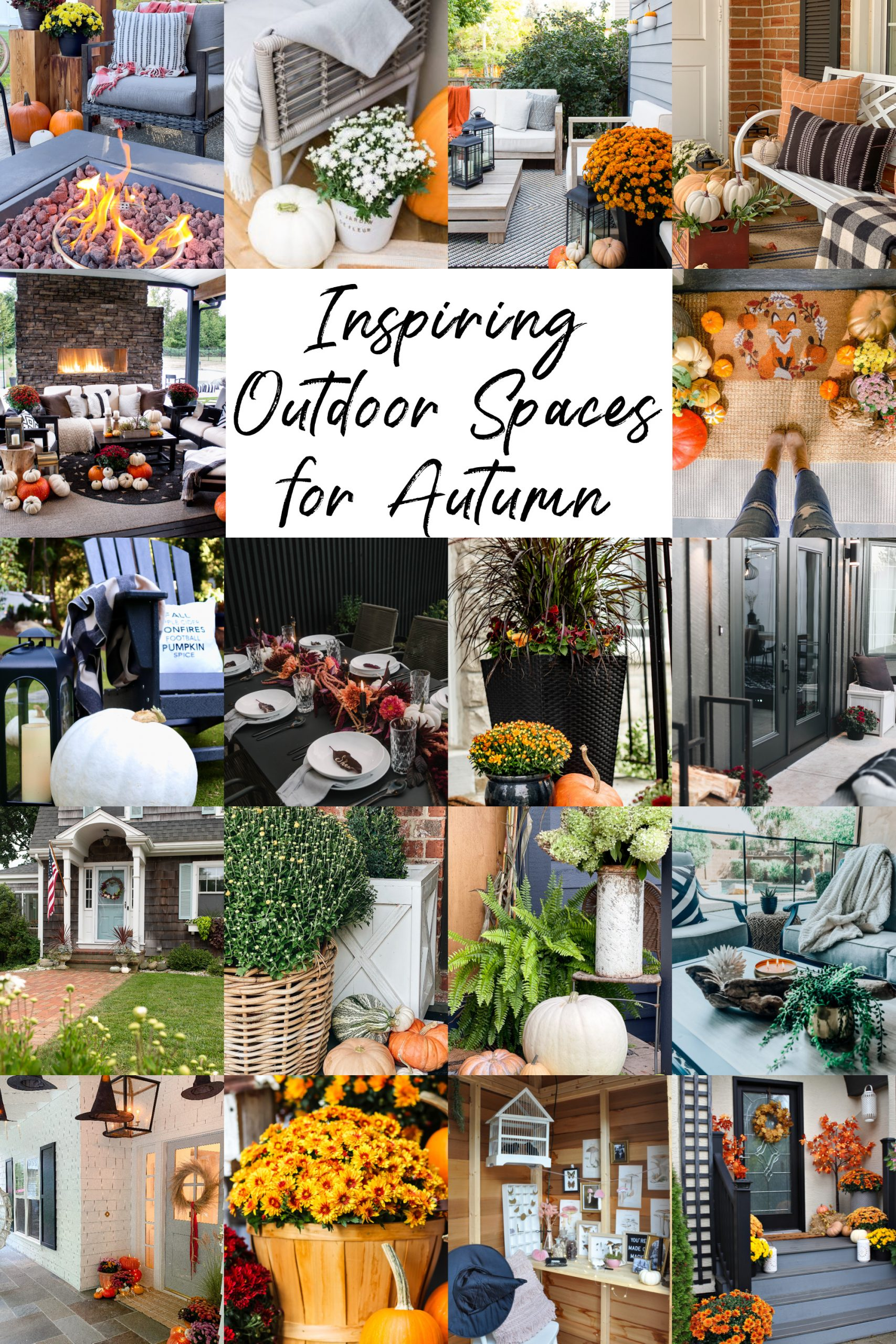 Inspiring Outdoor Fall Spaces