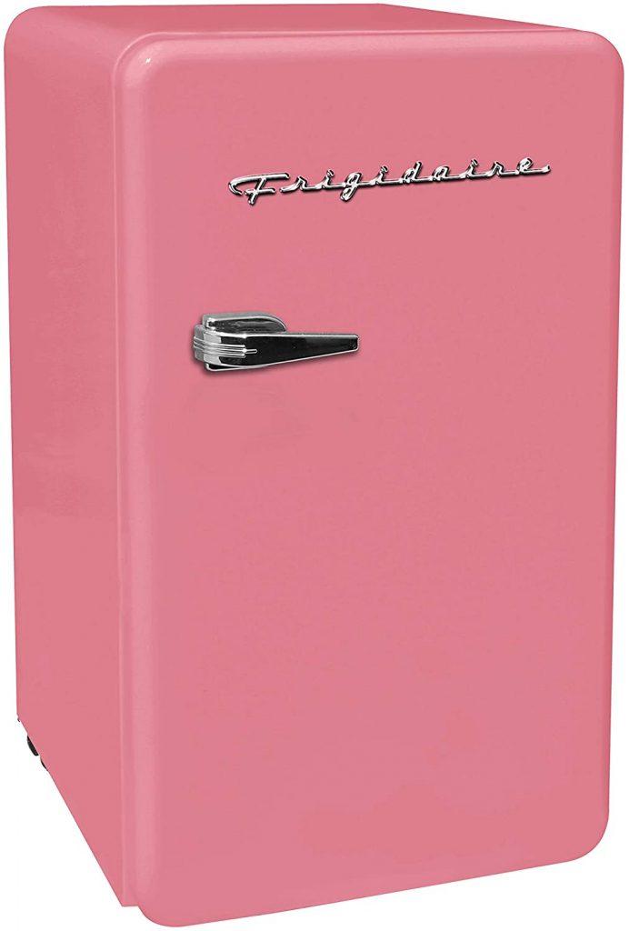 The cutest pink mini fridge