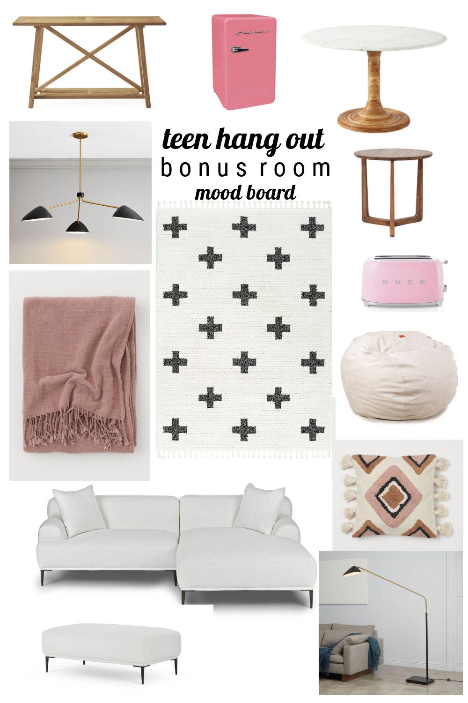 Bonus Room Teen Hangout Mood Board
