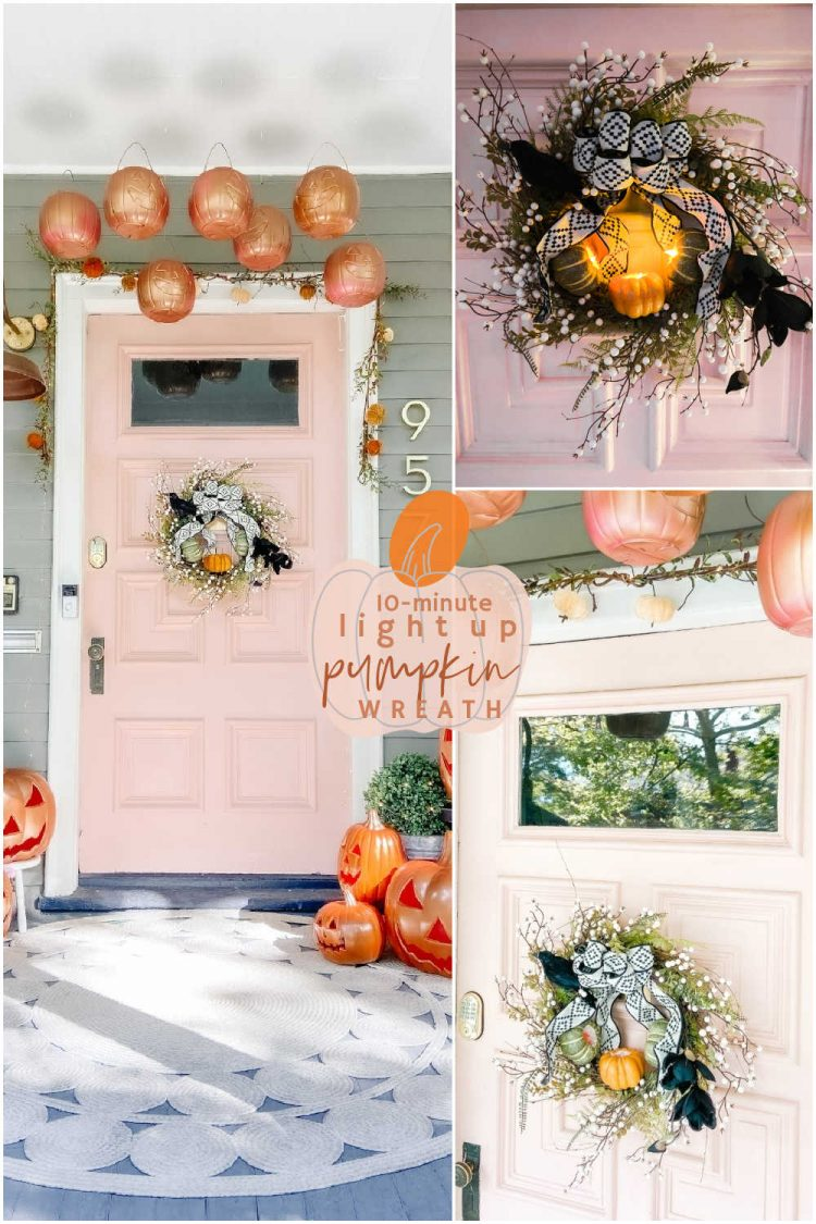 10minute light up pumpkin wreath