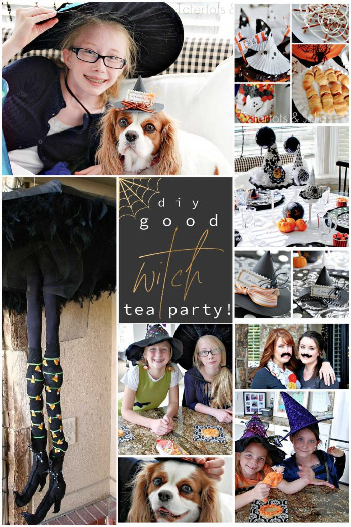 {Good} Witch Tea Party!! [and free Halloween Printables]