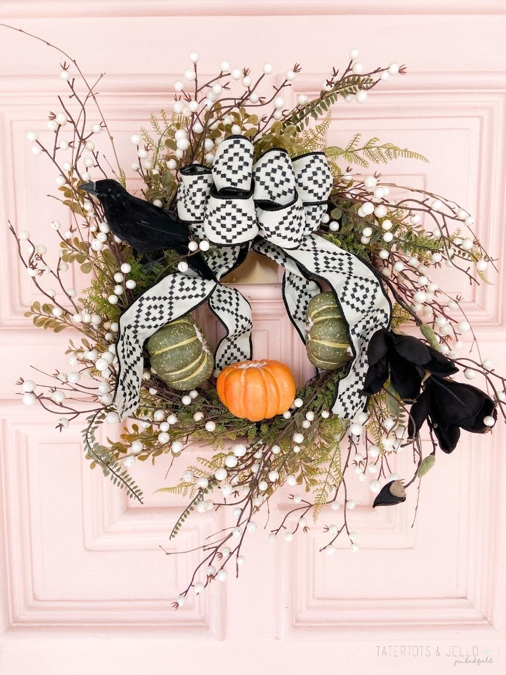Light Up Pumpkin Wreath