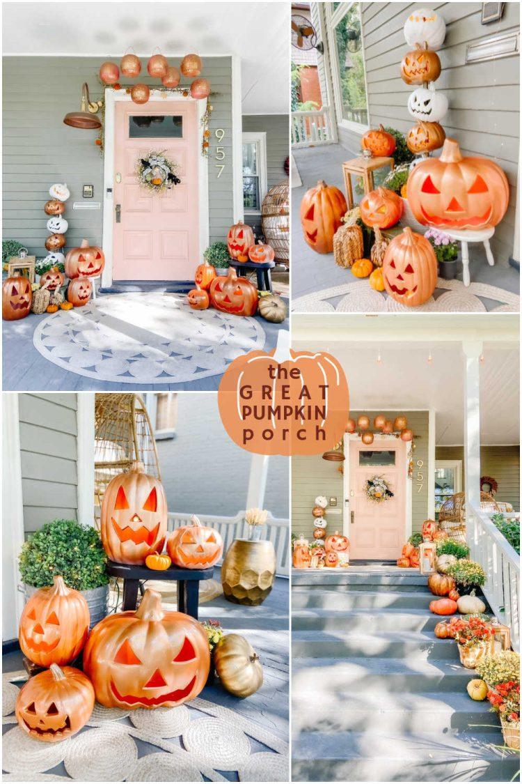 Halloween pumpkin porch